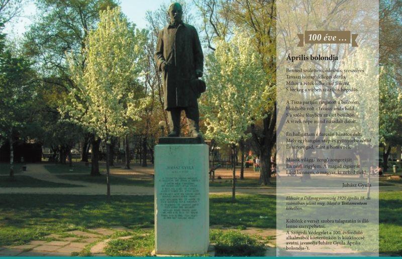 Juhász Gyula szobra és verse kép