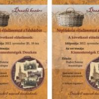 Kismesterségek Deszken – Népfőiskolai előadás
