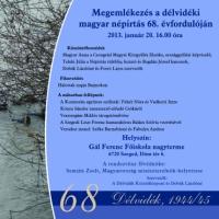 Megemlékezés a délvidéki magyar népirtás – a Délvidéki Holokauszt – 68. évfordulóján