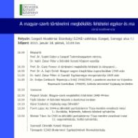 A magyar-szerb történelmi megbékélés feltételei egykor és most