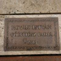 Emlékpadot avattak Novák István építésznek Szegeden