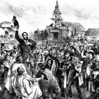Kossuth Lajos beszéde Szeged népéhez