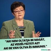 Aki nem oltatja be magát, az az immunisokat veszélyeztet…