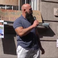 MOK előtti tüntetés 2021 szept. 15.-én – Dr. Gődény György